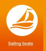 Marine heating sailing boats
