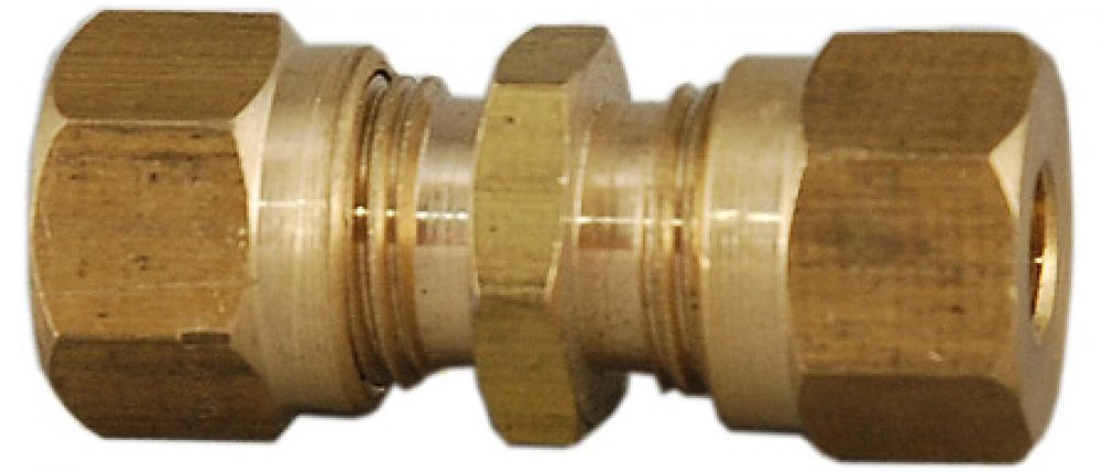 "3/16"" X 3/16"" Straight Compression Fitting -0"