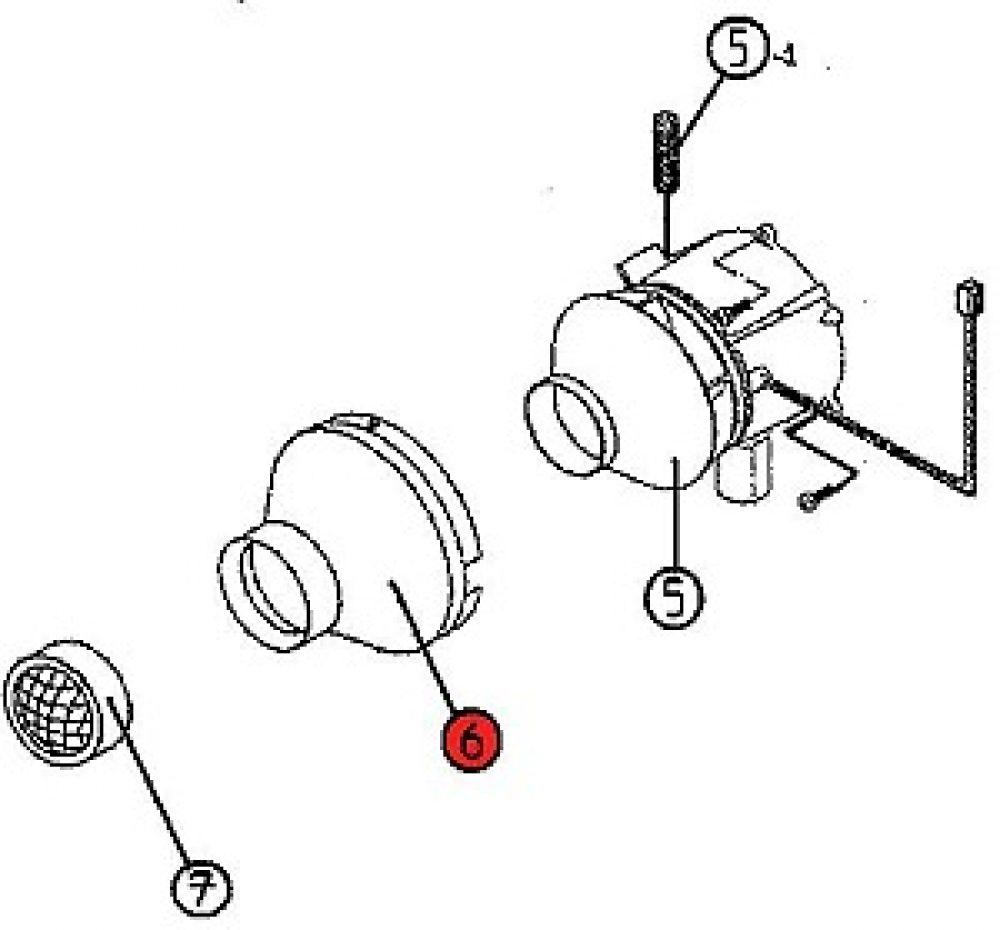 6) Air inlet housing -0