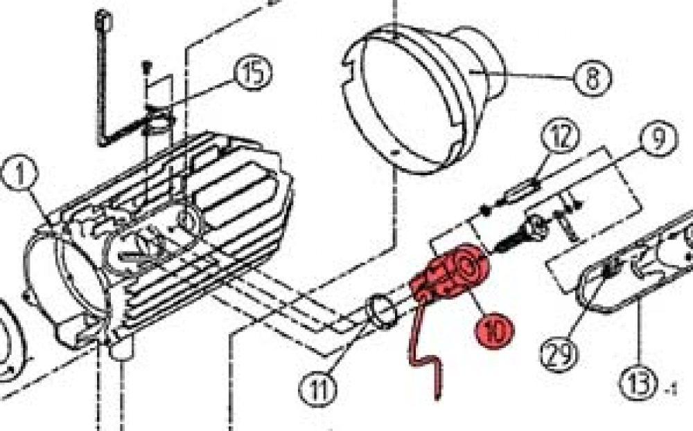 10) Glow Plug Boss Assembly -0