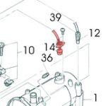 14) Thermostat (Overheat Thermostat) -0