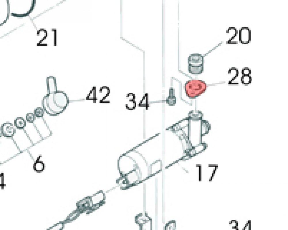 28) Flange (Water Pump Seal Retainer) -0
