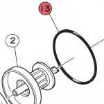 13) O-Ring -0