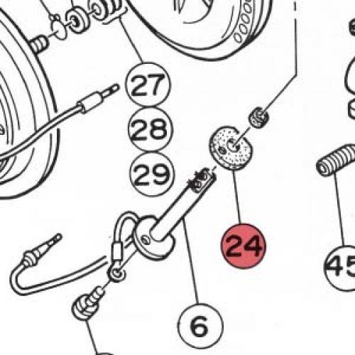 24) Packing (Gasket for Flame Sensor) -0