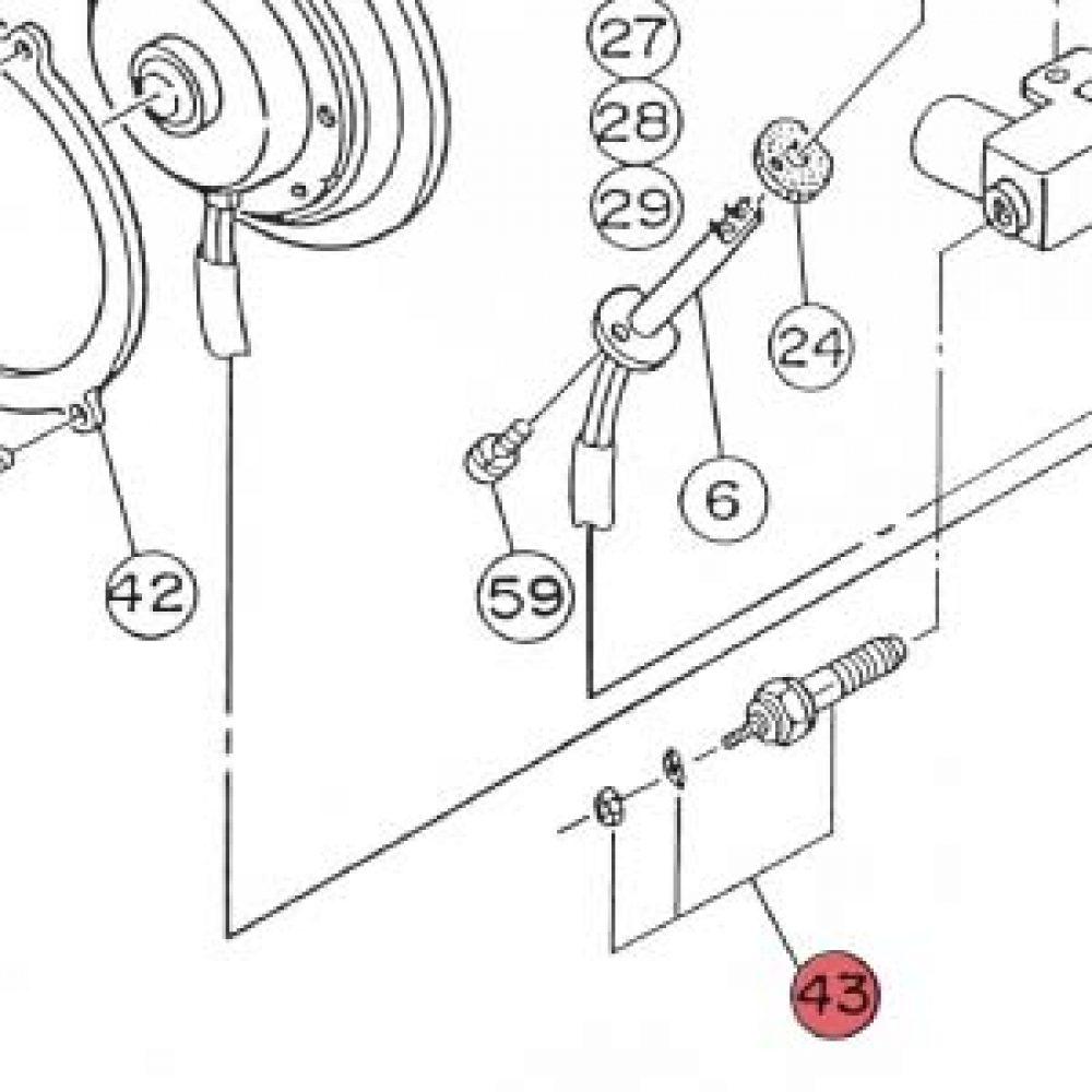 43) Glow Resistor Assembly (24V only) -0