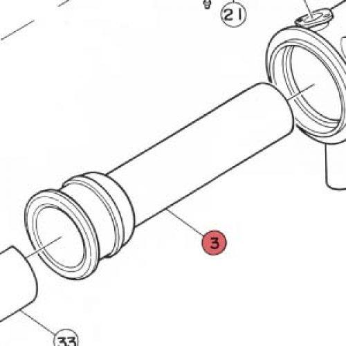 3) Burner Tube (Combustion Chamber) -0