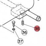 35) Water Drain Plug -0