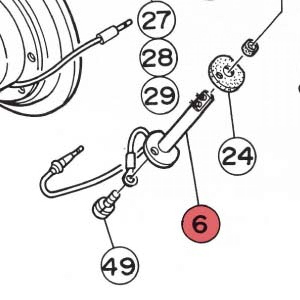 6) Flame Sensor Assembly 12V-0
