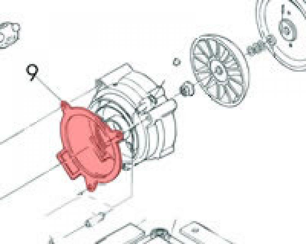 8) Packing (Motor Gasket) -0