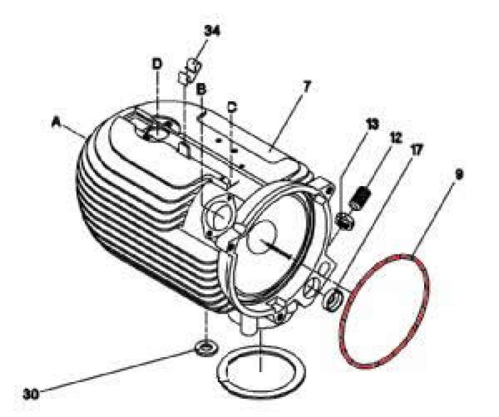 9) Gasket (String Gasket) -0