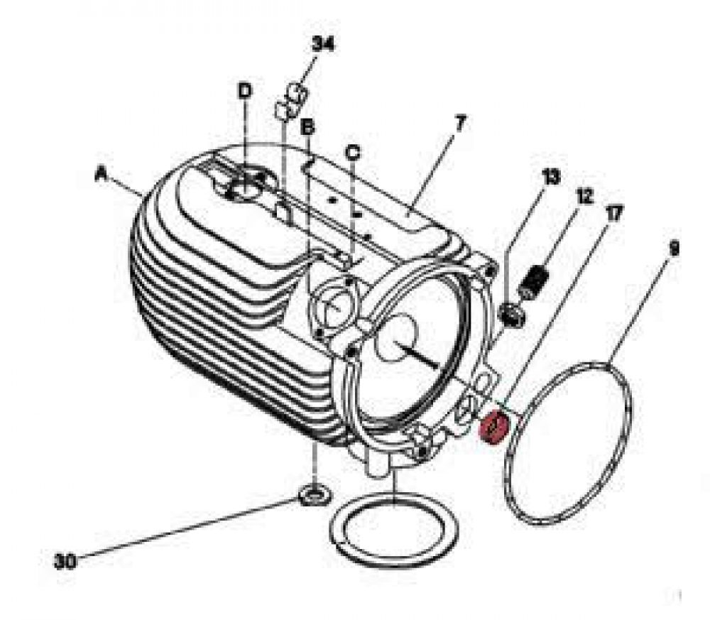 17) Collar (Combustion Air Reducer) -0