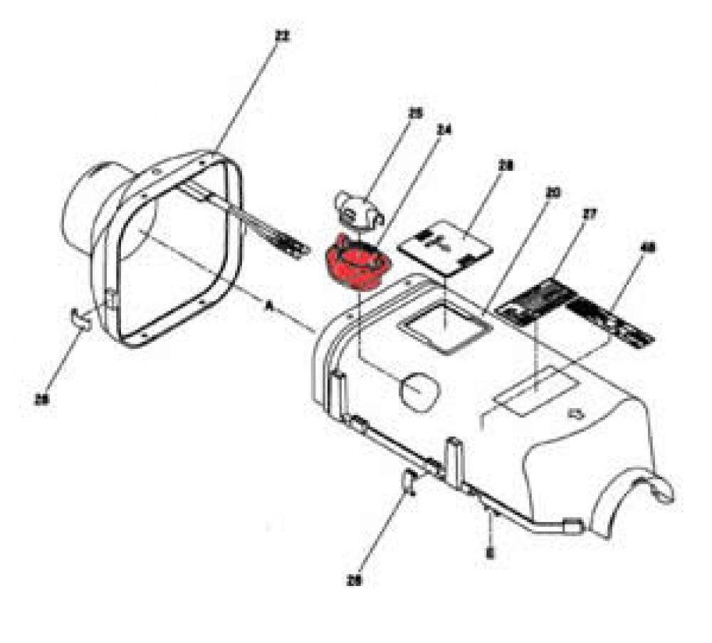 25) Cap (Plastic Cap for Glow Plug) -0