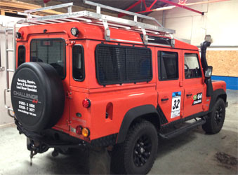 land rover defender with mv airo 2 v heater