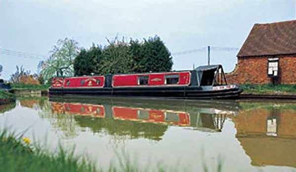 Narrowboat with MV heating diesel heater installed