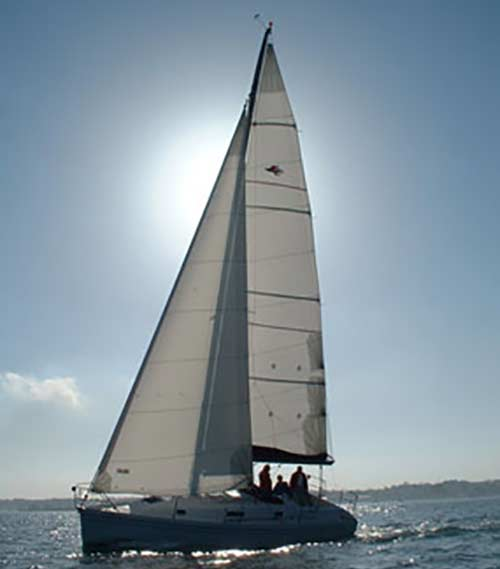 sailing boat with diesel heater